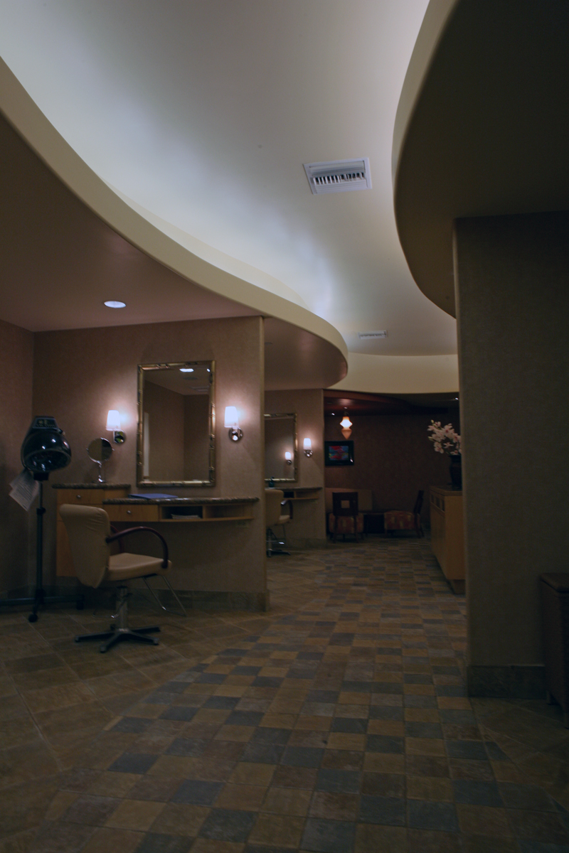 Hilton Spa Salon, 2003, Hilton Waikoloa Village, Waikoloa Beach Resort, Hawaii.